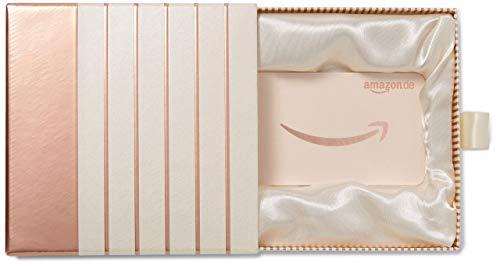 Amazon.de Geschenkkarte in Premium Geschenkbox (Roségold)