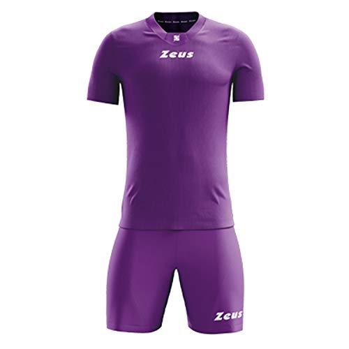 Zeus Marchio Modello Kit Promo - Completino di Maglia Manica Corta e Pantaloncino/Home Shop Italia (Viola, XL)