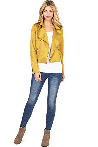 Haute Monde Damen-Jacke aus Wildlederimitat -  Gelb -  Medium