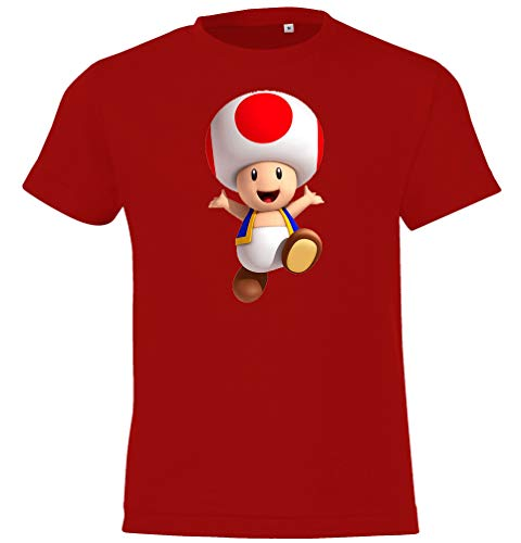 Youth Designz Kinder T -Shirt Modell Toad - Rot Gr. 118/128 (8 Jahre)