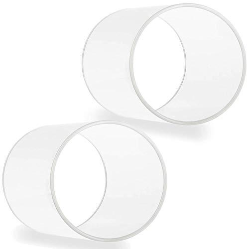 Tuuters.de 2er Set Windlichtgläser für Drinnen und Draußen | Aus Borosilikat-Glas ✓ Ideal zum Verzieren ✓ (150 x Ø 90mm, Ohne Boden)
