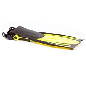 Typhoon T-Jet Adjustable Foot Fin - Adult Small/Medium (4-8) - Yellow