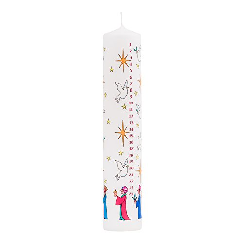 Alison Gardiner Christmas Advent Candle 'Wise Men' Wax Pillar 50 Hours Burn Time