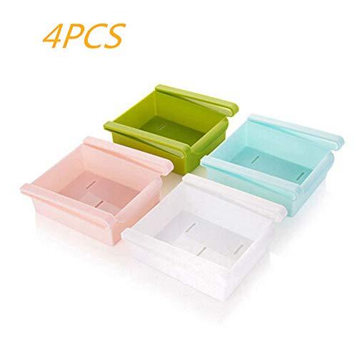 MIJOGO 4 PCS Koelkast Opbergdoos Keuken Opslag Containers Voedsel Organizer Vriezer En Koelkast Plank Lade voor Fruit Groente Eieren yy