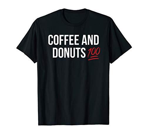 Einhundert Emoticon-Kaffee-Donuts T-Shirt