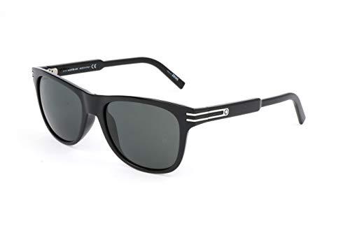 Montblanc Mont Blanc Gafas de Sol, Negro (Black), 56.0 Unisex Adulto