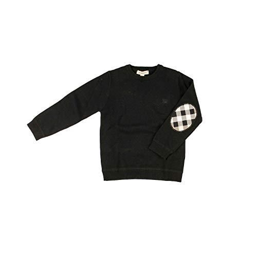 BURBERRY Pullover mit Ärmelpatches - schwarz, Größe:4 Jahre / 104