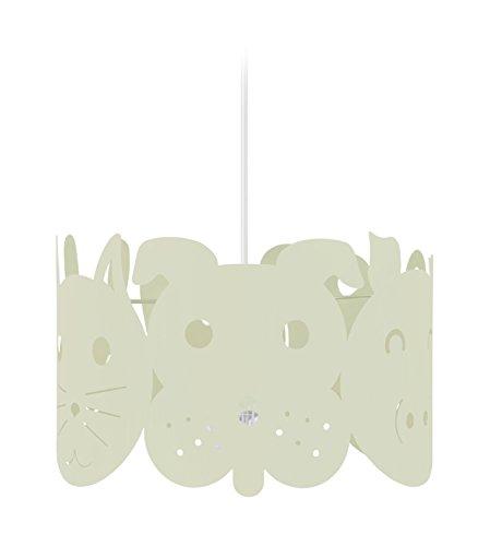 Tosel 17346 Suspension 1 Lumière, Acier, E27, 40 W, Rose, 30 x 90 cm