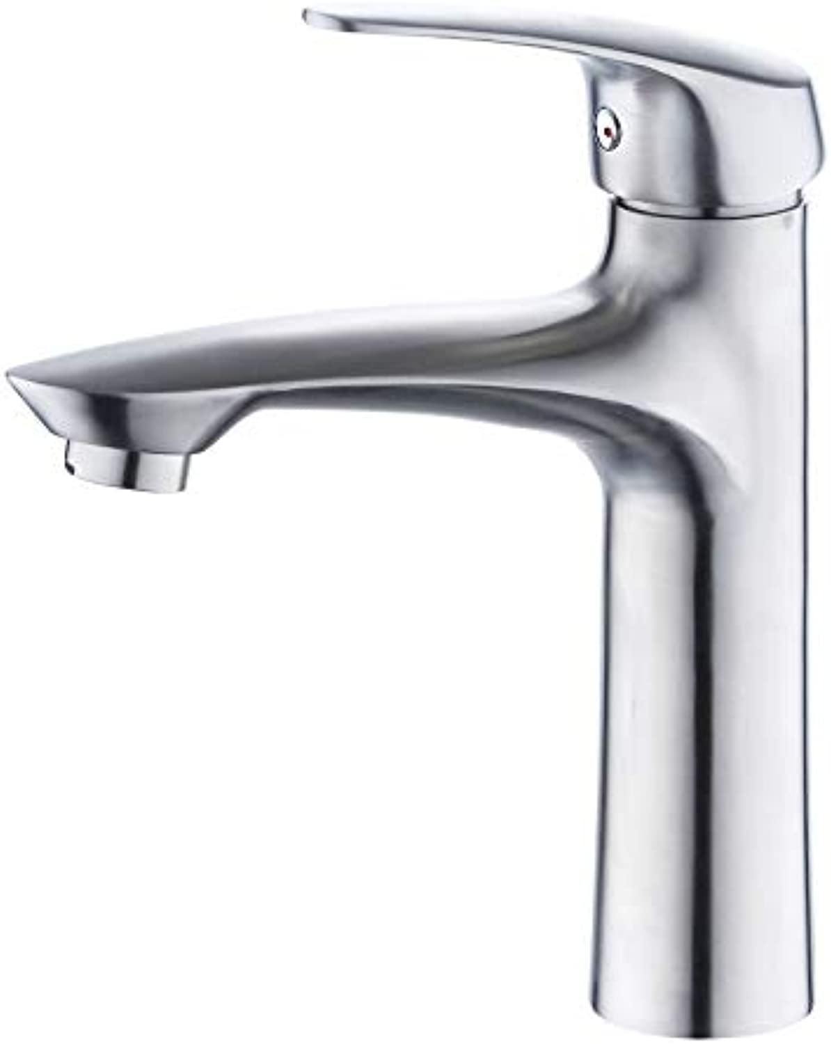 redOOY Bathroom Sink Taps Taps Faucet Basin Faucet304 Stainless Steel Basin Hot and Cold Mixing Valve