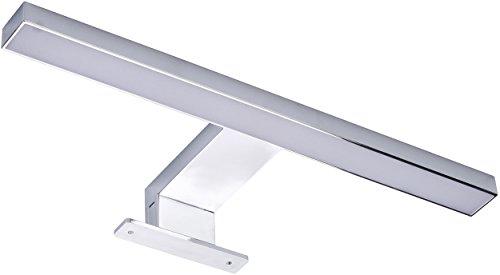 MÜLLER-LICHT LED Wand- und Spiegelleuchte Marin 30 cm, Aluminium, 4.5 watts, Chrom, 30 x 3.9 x 11 cm