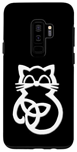 Galaxy S9+ Trinity Knot Celtic White Cat Case
