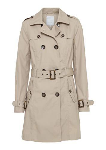 SOYACONCEPT - Damen Mantel/Trenchcoat in beige oder blau, SC-Lora 2 (15427-30), Größe:L, Farbe:Beige (8120)