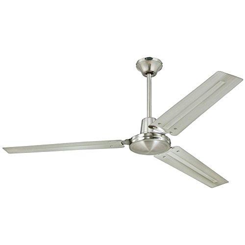 Westinghouse Lighting Westinghouse 7861400 Industrial 56-Inch Three Indoor Ceiling Fan, Brushed Nickel Steel Blades