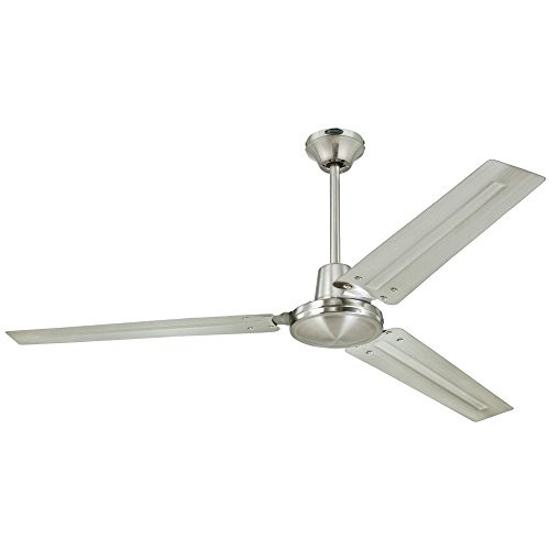 Westinghouse Lighting Westinghouse 7861400 Industrial 56-Inch Three Indoor Ceiling Fan, Brushed Nickel Steel Blades