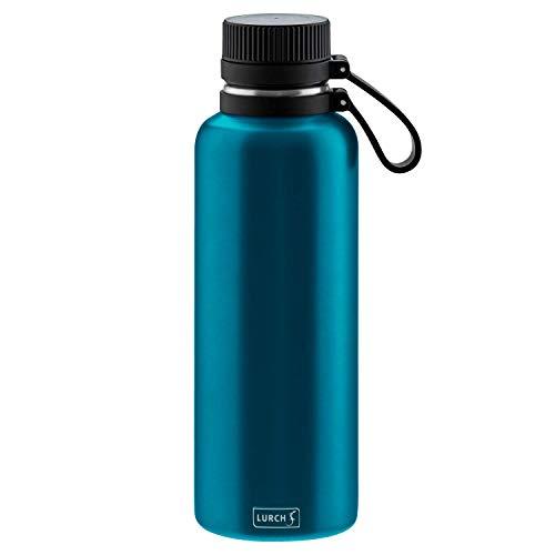 Lurch 240977 Outdoor Isolierflasche für heiße und kalte Getränke 1,0l, Edelstahl, Midnight Blue