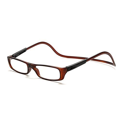 GEMSeven Unisex Magnet Lesebrille Männer Frauen Bunte Einstellbare Hängen Hals Magnetische Vorne Presbyopische Gläser