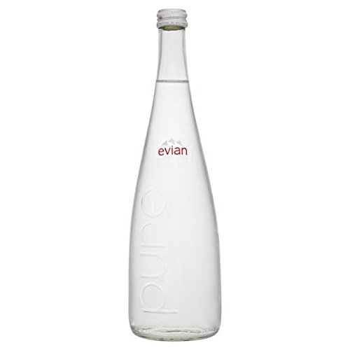 Evian Still Mineral Water Glass Bottle 750ml