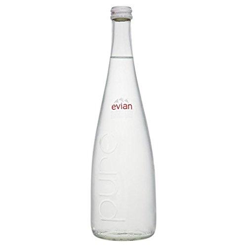 Evian Aún 750ml botella de agua mineral de cristal