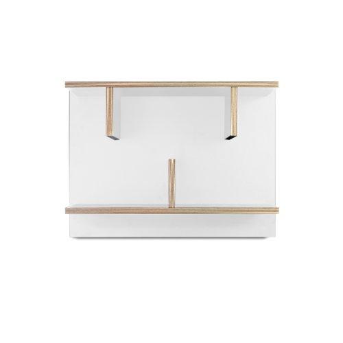 TemaHome Étagère, avec Bords en contreplaqué, Blanc, 60 x 23 x 45 cm