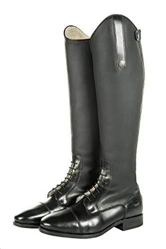 HKM 9117 Sevilla Teddy - Botas de equitación (Piel de Vacuno, Talla 37), Color Negro