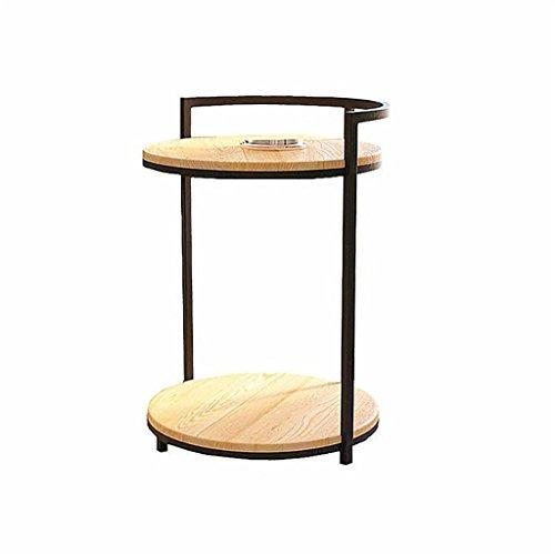 Loft Industriel Style rétro Solide Bois Table Basse Salon Petit thé Table Chevet canapé Fer Table de téléphone (Taille : 38 * 75cm)