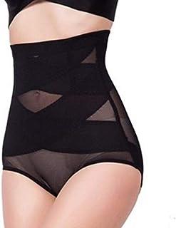 腹部制御下着シームレスおなかコントロールパンティーバットリフターボディシェイパーを細くする通気性のあるハイウエスト女性 - 黒2 XL