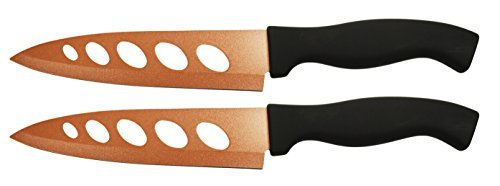 """Set of 2 Copper Knives! 6.25"""" Blade - As Seen on TV Never Sharpen Knives! Stays Sharp Forever! Effortless Clean Cuts Every Time! Ideal for Chopping, Dicing, Mincing, and More! (2)"""