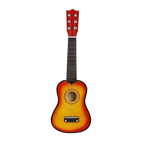RJDJG 21 Pulgadas de Ukulele Principiante Hawaii 6 Cuerdas Guitarra Ukelele para Instrumentos Musicales de Guitarra para niños y música Principiante Q12.12 (Color : Sunset Color)