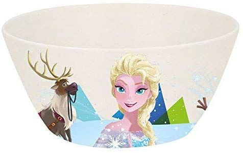 Piatto Ciotola Scodella ecologico 750ml in bambù BPA-free per bambini (Frozen, Ciotola Scodella)
