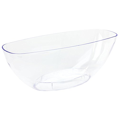 Prosper Plast Plástico Transparente Ovalado Maceta Coubi 36cm con Base elevada
