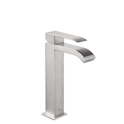 CUADRO EXCLUSIVE Monomando lavabo con caño cascada. NOTA: La grifería con caño cascada se acompaña con 2 llaves de regulación con filtro (Ref: 91.34.525).