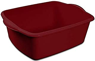 STERILITE 12QT RED Sterlite 12 Quart Dishpan Basin, 1 Pack