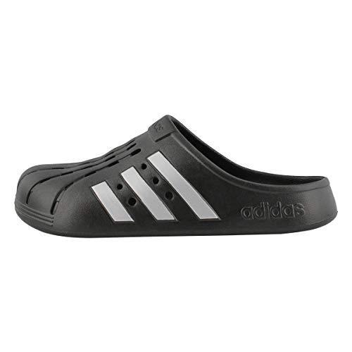adidas unisex adult Adilette Clog Slide Sandal, Core Black/Silver Metallic/Core Black, 7 Women Men US