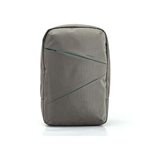 Kingsons Water-Resistant Durable Travel Daypack, Laptop Backpack 15.6 Inch Comfort Padded Shoulder Straps, Durable Nylon Material, Large Bookbag Travel Women College School Teens [Grey] Arrow Series