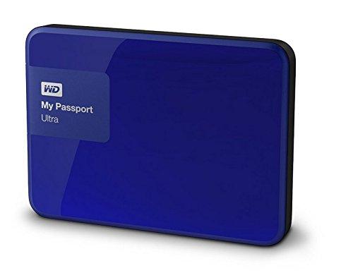 Western Digital My Passport Ultra 2 TB Externe Festplatte (bis zu 5 Gb/s, USB 3.0) königsblau