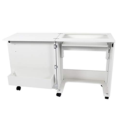 Arrow 101 Judy Sewing and Craft Table with Storage and Adjustable 3-Position...