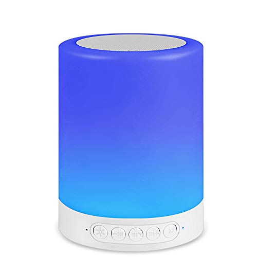 Night Light with Bluetooth Speaker,Smart Touch Control Color Changing, Table Party Bedroom Bedside Camping Mood Multipurpose Audio Lamp, Best Christmas Gift for Teens,Birthday Present for Children