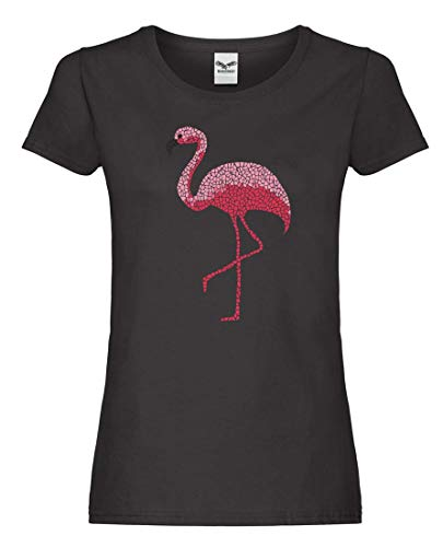 T-Shirt - Flamingo Tropisch Rosa Vogel - Tshirt für Damen und Frauen