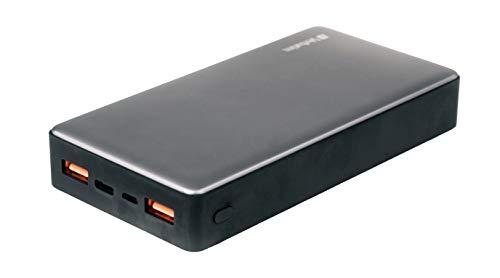 Verbatim Powerbank - 20.000 mAh - Quick Charge 3.0 & USB-C™- 2 Eingänge, Schnellladefunktion - schwarz