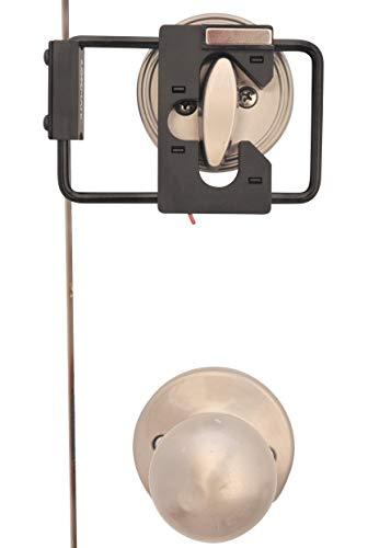 LOKmate Deadbolt Guard Door Lock Security - Magnet Version (Black/Black)