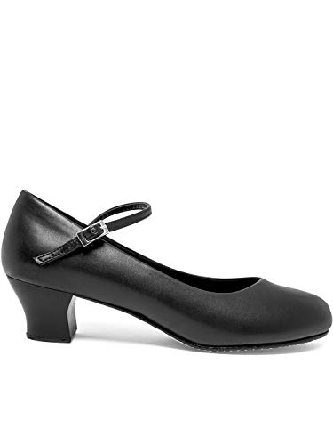 Capezio Womens Cassie Jr. Character Shoe (831) -BLACK -8