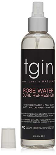 tgin Rose Water Curl Refresher for Curls - Natural Hair - Braids - Protective Styles - 8 Oz