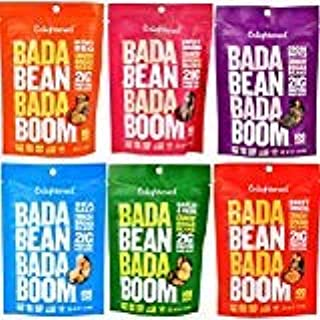 Enlightened Bada Bean Bada Boom Crunchy Broad Beans 3 oz - 6 Bags (BADA BEAN VARIETY 3oz 6PK)