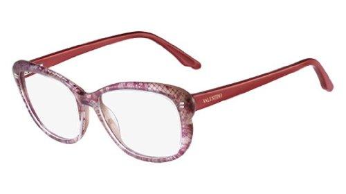 Valentino V2655 Cateye Brillengestelle 52, Mehrfarbig