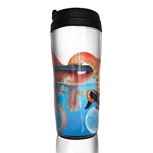 haiyou alla Ricerca di Dory Tazze da caffè Isolamento a Doppia Parete Riutilizzabile Comodo da trasportare, Interruttore di Uscita dell'Acqua sul Coperchio della Tazza Bello e Pratico