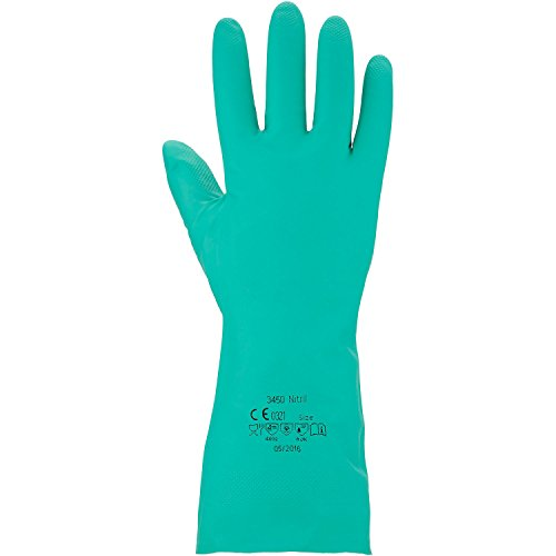 Asatex 3450 7 Nitril Gants de protection chimique, Vert, Taille 7
