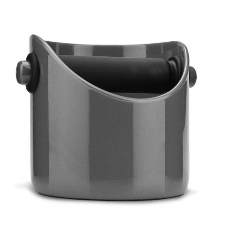 Dreamfarm Grindenstein afklophouder voor koffiedik Steel Wool zilvergrijs