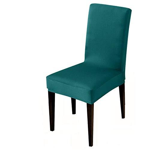 UIRK Esszimmer Stretch Stuhlhussen,Modern Dining Chair Protector Peacock Einfarbig Klassisch Abnehmbare Waschbare Elastische Stuhlsitzbezüge Für Hotelhochzeitsbankett, 2 Stück/Packung
