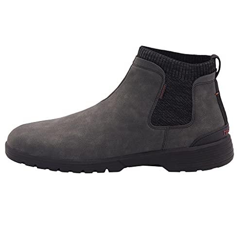HeyDude Scott Grip - Stivaletti Uomo - Colore Total Black - Stile Chelsea Boot - Comfort Leggero - Scarpe Uomo in Pelle Ecosostenibile - Soletta Interna Ergonomica in Memory Foam - Taglia EU 47