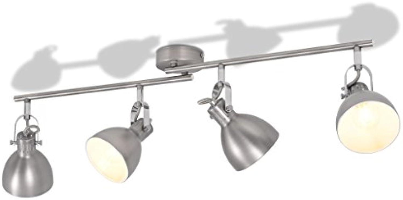 ROMELAREU Deckenlampe für 4 Glühlampen E14 Grau Heim & Garten Beleuchtung KronleuchterWand- & Deckenbeleuchtung Deckenleuchten